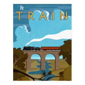 Durch Zug Postkarte