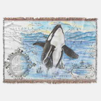 Durchbrechen der Schwertwal-alten Karte Decke