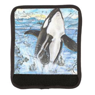 Durchbrechen der Schwertwal-alten Karte Gepräckgriffwickel