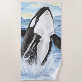 Durchbrechen des Schwertwals Strandtuch