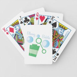 Durchbrennenblasen Spielkarten
