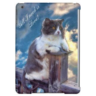 Durchdachte Abdeckung der Katzen-QPC für das iPad