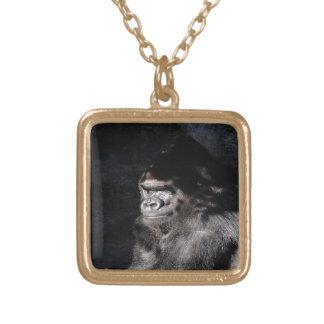 Durchdachter Gorilla Vergoldete Kette