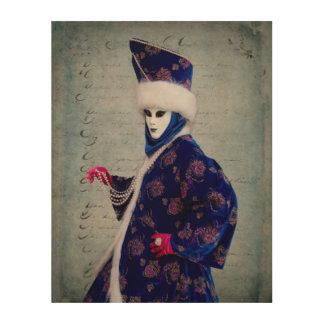 Durchdachtes Karnevals-Kostüm, Venedig Holzwanddeko