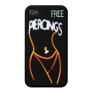 Durchdringen-Neon (Gold) Dame Silhouette iPhone 4  iPhone 4 Hüllen