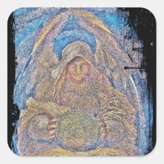 Durchdringender Geist-Engel Quadratischer Aufkleber