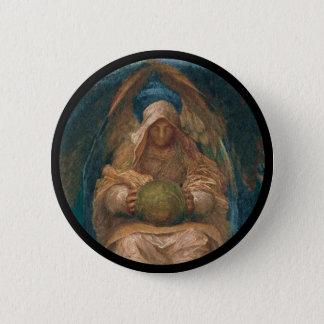 Durchdringender Geist-Engel Runder Button 5,7 Cm