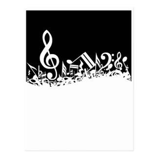 Durcheinander der musikalischen Symbole Postkarte
