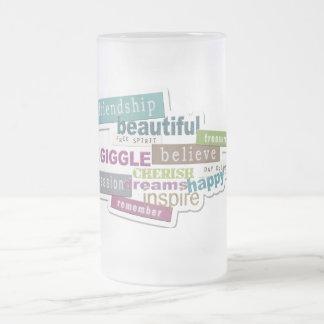 durcheinandergebrachte Wörter Mattglas Bierglas