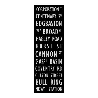 Durchfahrt-Rolle-Plakat Birminghams Vintages Poster