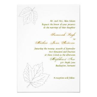Durchgebrannter weg12x18 Herbstlaub, der Einladung
