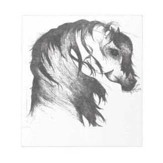 Durchgebranntes Pferd der Fantasie Wind Notizblock