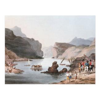 Durchlauf des Tajos am Landhaus Velha in Postkarte
