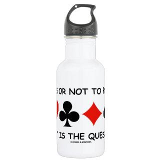 Durchlauf oder nicht zum Durchlauf, der ist die Trinkflasche