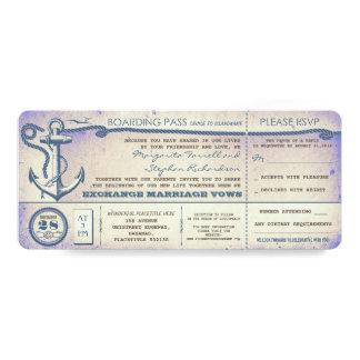Durchlauf-Vintage Karten des Hochzeits-Boardings Personalisierte Einladungen