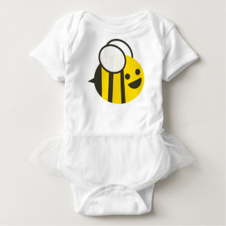 Durchmogelnder Baby-Hummel-BieneTutu Baby Strampler