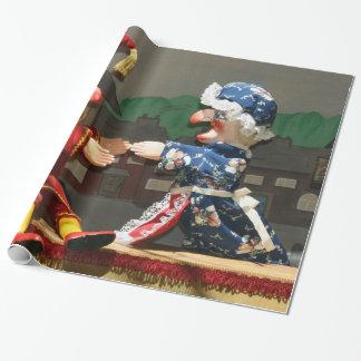 Durchschlag und Judy Geschenkpapier
