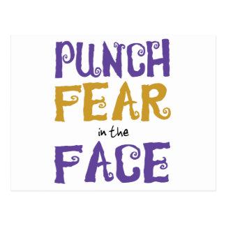 Durchschlags-Furcht im Gesicht Postkarte