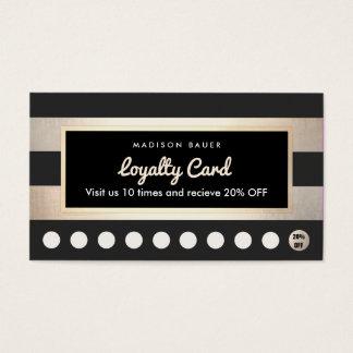 Durchschlags-Gold der Kunden-Loyalitäts-10 und Visitenkarte