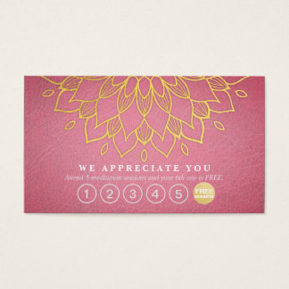 Durchschlags-Goldmandala-lila Leder der Visitenkarte