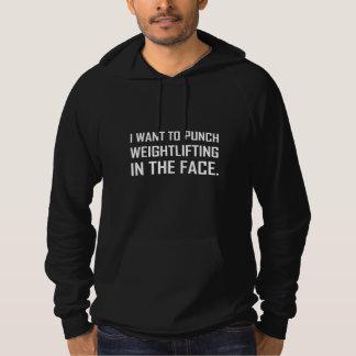 DurchschlagWeightlifting im Gesicht Hoodie