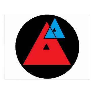 Durchschnittliche Analyse - Dreiecke Postkarte