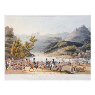 Durchschreiten des Flusses Mondego, graviert durch Postkarte