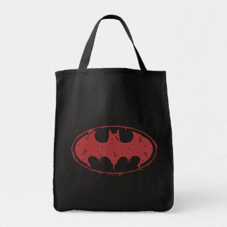 Durchsickerndes roter Schläger-Logo Batmans | Tragetasche