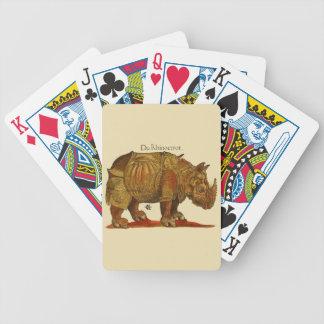 Durers Nashorn Bicycle Spielkarten