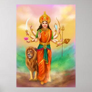 Durga Göttin Poster