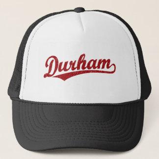 Durham-Skriptlogo im Rot Truckerkappe
