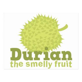 Durian die stinkende Frucht Postkarte