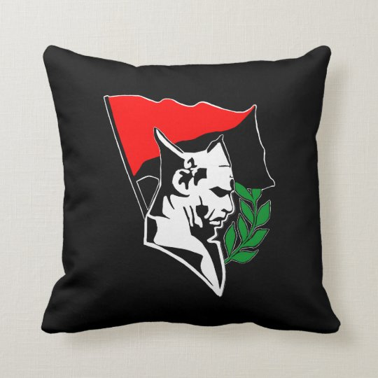 Durruti - Anarchy Flag / Anarchy Star black-red Kissen