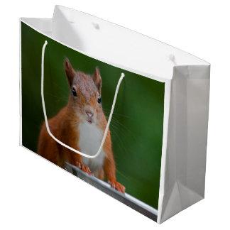Durstige Eichhörnchen-Geschenk-Tasche Große Geschenktüte