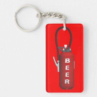 Durstquencher-Bier Beidseitiger Rechteckiger Acryl Schlüsselanhänger