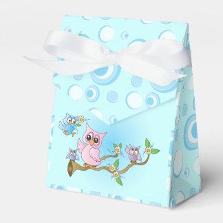 Duschen-Thema der blaues Baby-Eulen-| Geschenkschachtel