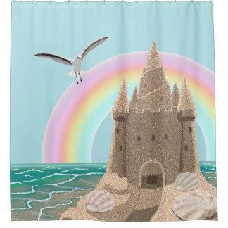 Duschvorhang der Sandcastle-Seemöwe (Regenbogen)