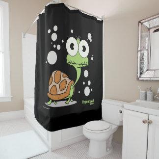 Duschvorhang der Schildkröte-(schwarzes BG)
