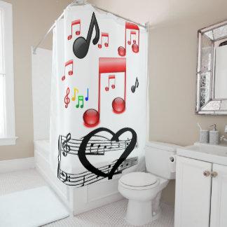 Duschvorhang des Musikers