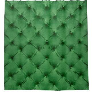 Duschvorhang mit Druck des grünen capitone