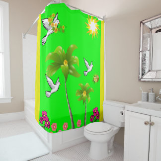 Duschvorhang-Palmen Duschvorhang