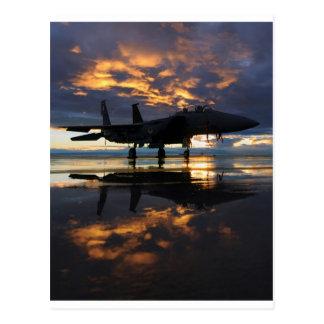 Düsenjäger-Flugzeug-Pilot Wings Schicksal Postkarte
