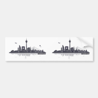 Düsseldorf City Skyline Autoaufkleber