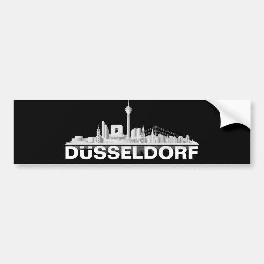 Düsseldorf City Skyline Autoaufkleber / Sticker