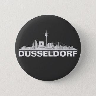 Düsseldorf City Skyline Button / Pin / Anstecker