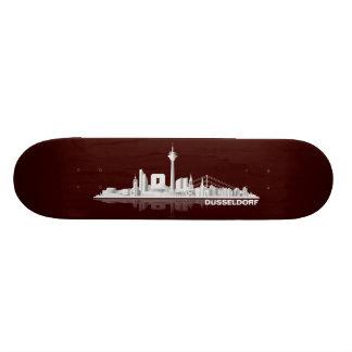 Düsseldorf City Skyline Geschenkidee 20,1 Cm Skateboard Deck