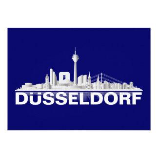 Düsseldorf City Skyline Klappkarte / Einladung