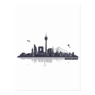 Düsseldorf City Skyline Postkarte
