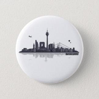 Düsseldorf City Skyline Runder Button 5,7 Cm