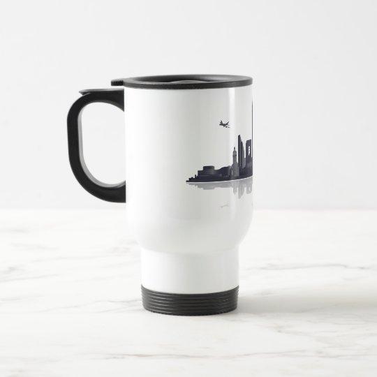 Düsseldorf City Skyline Tasse / Mug / Kaffeepott
